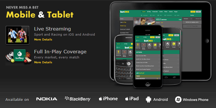 bet365 on the move