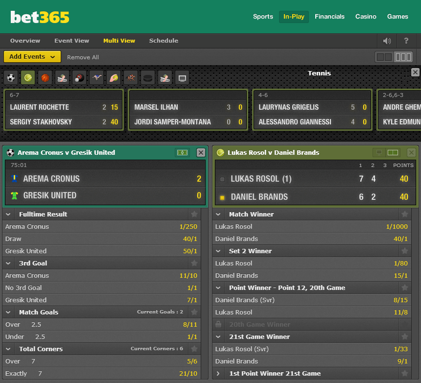 multiview in-play bet365